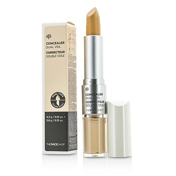 The Face Shop Concealer Dual Veil – #V107 Ivory Beige 8.1g/0.28oz