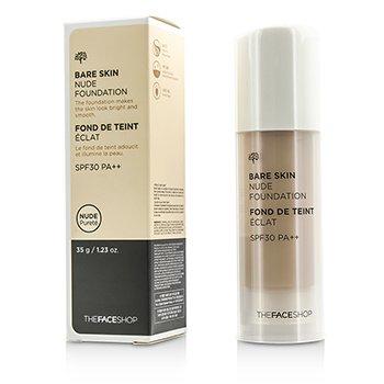 The Face Shop Bare Skin Nude Foundation SPF30 – #V201 Apricot Beige 35g/1.23oz