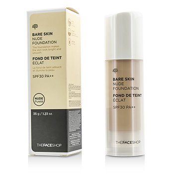 The Face Shop Bare Skin Nude Foundation SPF30 – #M201 Midium Beige 35g/1.23oz