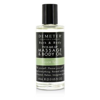 Demeter Green Tea Massage & Body Oil 60ml/2oz