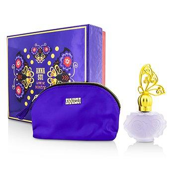 Anna Sui La Vie De Boheme Coffret: Eau De Toilette Spray 30ml/1oz + Cosmetic Pouch  1pc+1pouch