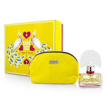 Anna Sui Flight Of Fancy Coffret: Eau De Toilette Spray 30ml/1oz + Cosmetic Pouch  1pc+1pouch