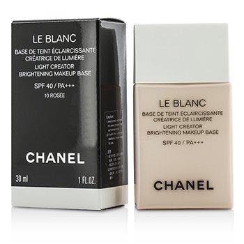 Chanel Le Blanc Light Creator Brightening Makeup Base SPF40 - #10 Rosee  30ml/1oz