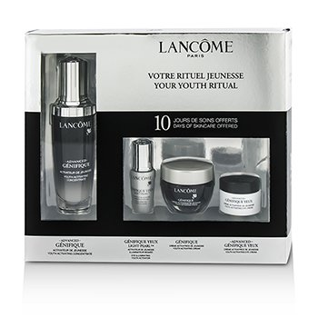 LancomeAdvanced Genifique (Your Youthful Ritual) Set: Concentrate 50ml + Cream 15ml + Yeux Light-Pearl 5ml + Eye Cream 5ml 4pcs