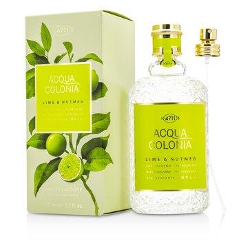 4711 Acqua Colonia Lime & Nutmeg Eau De Cologne Spray 170ml/5.7oz men s fragrance