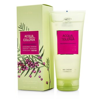 Image of 4711 Acqua Colonia Pink Pepper & Grapefruit Aroma Shower Gel 200ml/6.8oz