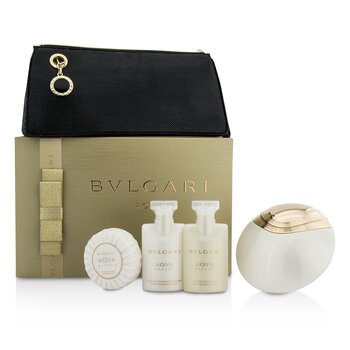 BvlgariAqva Divina Coffret: Eau De Toilette Spray 65ml/2.2oz + Body Lotion 40ml/1.35oz + Shower Gel 40ml/1.35oz + Soap 50g/1.76oz + Pouch 4pcs+1pouch