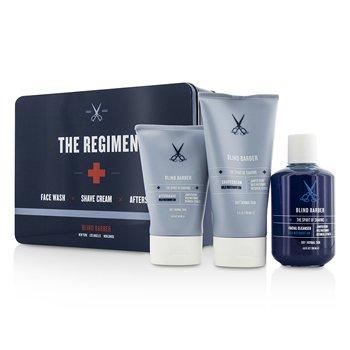 Blind Barber The Regimen Set: Facial Cleanser 200ml/6.8oz + Shave Cream 150ml/5oz + After Shave 100ml/3.3oz  3pcs