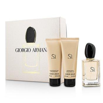Giorgio Armani Si Coffret: EDP Spray 50ml/1.7oz + Body Lotion 75ml/2.5oz + Shower Gel 75ml/2.5oz 3pcs