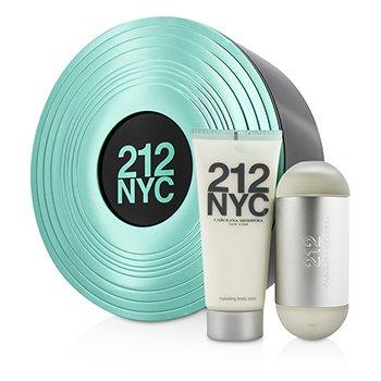 Carolina Herrera 212 NYC Coffret: Eau De Toilette Spray 60ml/2oz + Body Lotion 100ml/3.4oz 2pcs