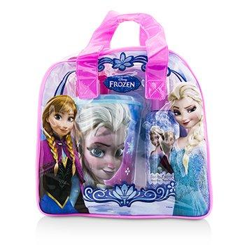 Air Val International Disney Frozen Coffret: Eau De Toilette Spray 100ml/3.4oz + Plastic Cup with Straw + Bag  2pcs+1bag