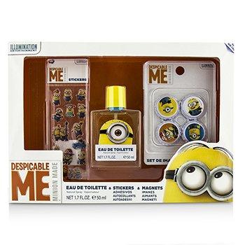 Air Val InternationalMinions Coffret: Eau De Toilette Spray 50ml/1.7oz + Magnets + Stickers 3pcs