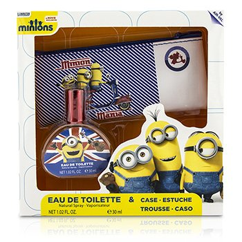 Air Val International Minions Coffret: Eau De Toilette Spray 30ml/1oz + Case  2pcs