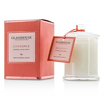 Glasshouse Triple Scented Candle - Esperance (Mimosa & Wild Apple) 60g