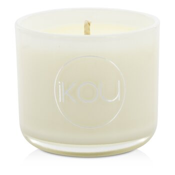 iKOU Eco-Luxury Aromacology Natural Wax Candle Glass – Calm (Lemongrass & Lime) (2×2) inch