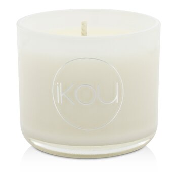 Image of iKOU Eco-Luxury Aromacology Natural Wax Candle Glass - Zen (Green Tea & Cherry Blossom) (2x2) inch