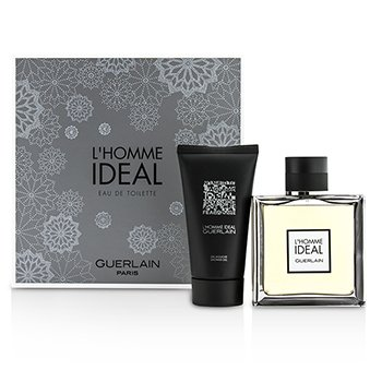 Guerlain L'Homme Ideal Coffret: Eau De Toilette Spray 100ml/3.3oz + Shower Gel 75ml/2.5oz  2pcs