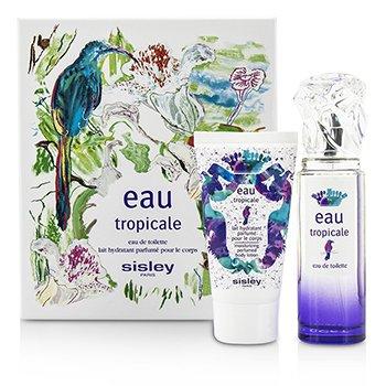 SisleyEau Tropicale Coffret: Eau De Toilette Spray 50ml/1.6oz + Body Lotion 50ml/1.6oz 2pcs