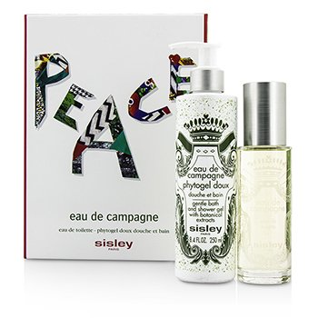 Sisley Eau De Campagne Coffret: Eau De Toilette Spray 100ml/3.3oz + Bath Shower Gel 250ml/8.4oz  2pcs