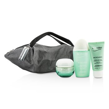 Biotherm Aquasource X Mandarina Duck Coffret: Cream N/C 50ml + Biosource FoamCleanser 50ml + Biosource ToningLotion 100ml + Handle Bag  3pcs+1bag