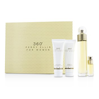 Perry Ellis360 Coffret: Eau De Toilette Spray 100ml/3.4oz + Body Lotion 90ml/3oz + Shower Gel 90ml/3oz + EDT Spray 7.5ml/0.25oz 4pcs