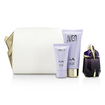 Thierry MuglerAlien Coffret: Eau De Parfum Refillable Spray 30ml/1oz + Body Lotion 100ml/3.5oz + Shower Gel 30ml/1oz + Pouch 3pcs+1pouch