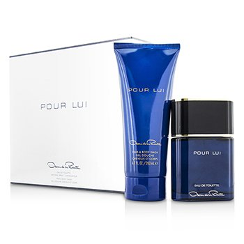 Oscar De La RentaPour Lui Coffret: Eau De Toilette Spray 90ml/3oz + Hair & Body Wash 200ml/6.7oz 2pcs
