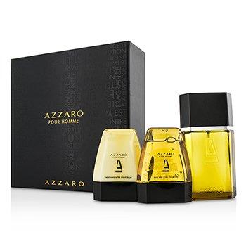 Loris Azzaro Azzaro Coffret: Eau De Toilette Spray 100ml/3.4oz + Hair & Body Shampoo 75ml/2.6oz + After Shave Balm 75ml/2.6oz  3pcs