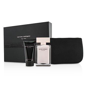 Narciso RodriguezFor Her Coffret: Eau De Parfum Spray 50ml/1.6oz + Body Lotion 50ml/1.6oz + Pouch 2pcs+1pouch