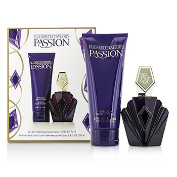 Elizabeth TaylorPassion Coffret: Eau De Toilette Spray 74ml/2.5oz + Body Lotion 200ml/6.8oz 2pcs