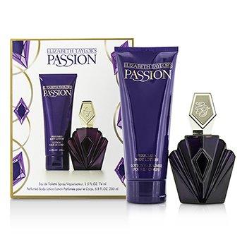 Elizabeth Taylor Passion Coffret: Eau De Toilette Spray 74ml/2.5oz + Body Lotion 200ml/6.8oz 2pcs