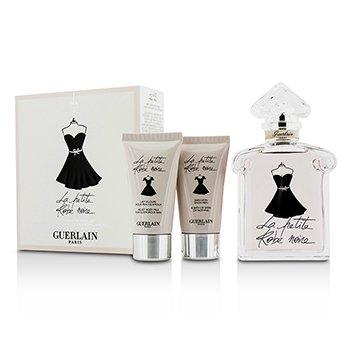 Guerlain La Petite Robe Noire Coffret: Eau De Toilette Spray 100ml/3.3oz + Body Milk 30ml/1oz + Shower Gel 30ml/1oz  3pcs