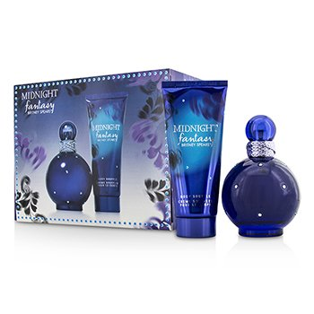 Britney Spears Midnight Fantasy Coffret: EDP Spray 100ml/3.3oz + Body Souffle 100ml/3.3oz 2pcs