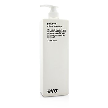 Evo Gluttony Volume Shampoo (For All Hair Types  Especially Fine Hair) 1000ml/33.8oz