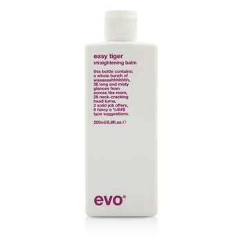 Evo Easy Tiger Straightening Balm (For All Hair Types  Especially Thick Coarse Hair) 200ml/6.8oz