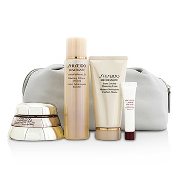 Shiseido Bio Performance Set: Super Restoring Cream 50ml + Cleansing Foam 50ml + Softener Enriched 75ml + Concentrate 5ml + Bag  4pcs
