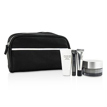 Shiseido Men Set: Men Total Revitalizer 50ml + Men Total Revitalizer Ojos 5ml + Men Espuma Limpiadora 30ml + Men Concentrado 7ml + Bolsa  4pcs+1bag