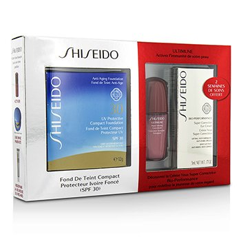 Shiseido UV Protective Powder Coffert: 1xUltimune Concentrate  1xBio Performance EyeCream  1x Compact Foundation – #SP70 3pcs