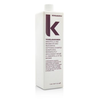 Kevin.Murphy Young.Again.Wash (Immortelle and Baobab Infused Restorative Softening Shampoo – To Dry Brittle Hair) 1000ml/33.6oz