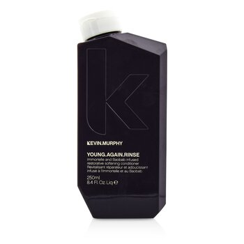 Kevin.Murphy Young.Again.Rinse (Immortelle and Baobab Infused Restorative Softening Conditioner – To Dry  Brittle or Damaged Hair) 250ml/8.4oz