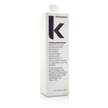 Kevin.Murphy Young.Again.Rinse (Immortelle and Baobab Infused Restorative Softening Conditioner – To Dry  Brittle or Damaged Hair) 1000ml/33.6oz
