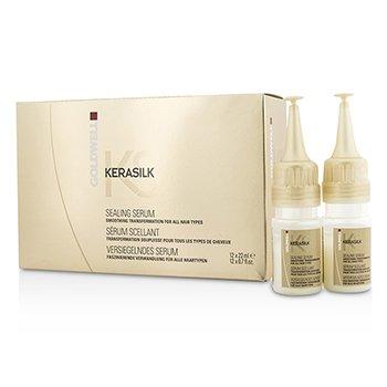 Goldwell Kerasilk Sealing Serum - Smoothing Transformation (For All Hair Types)  12x22ml/0.7oz