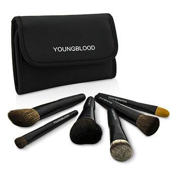 YoungbloodProfessional Mini 6pc Brush Set 6pcs