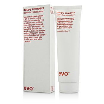 Evo Happy Campers Leave-In Moisturiser - For Colour-Treated  Weak  Brittle Hair (Box Slightly Damaged) 150ml/5.1oz