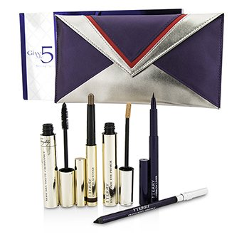 By Terry Give Me 5 Smoky Eyes Kit (1x Eye Primer 1x Eye Pencil 1x Mascara 1x Brow Liner.) 6pcs