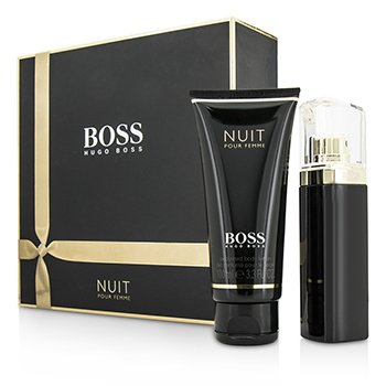 Boss Nuit Pour Femme Набор: Парфюмированная Вода Спрей 50мл/1.6унц + Лосьон для Тела 100мл/3.3унц 2pcs