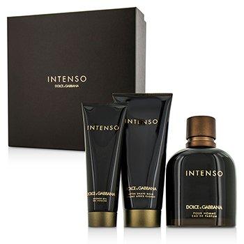 Dolce & GabbanaIntenso Coffret: Eau De Parfum Spray 125ml/4.2oz + After Shave Balm 75ml/2.5oz + Shower Gel 50ml/1.6oz 3pcs