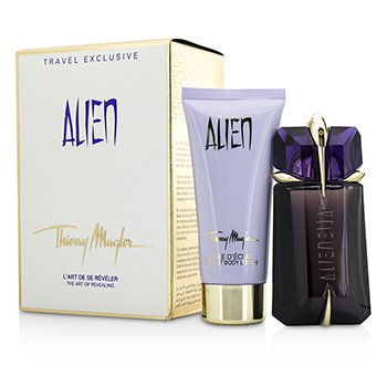 Thierry Mugler Alien Coffret: Eau De Parfum Refillable Spray 60ml/2oz + Body Lotion 100ml/3.4oz  2pcs