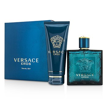 VersaceEros Coffret: Eau De Toilette Spray 100ml/3.4oz + Shower Gel 100ml/3.4oz 2pcs