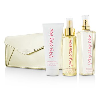 Victoria's SecretVery Sexy Now Coffret: Fragrance Mist 125ml/4.2oz + Hair & Body Oil 100ml/3.4oz + Fragrance Wash 100ml/3.4oz + Pouch 3pcs+1pouch